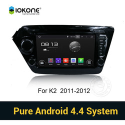 Iokone Android 4.4 3g wifi Car DVD Player with GPS navigation for KIA K2 RIO 2011-2012