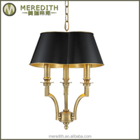 Meredith Newest Design Hot Sale Indoor vintage brass lamps #4015
