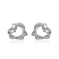 Popular jewelry heart shape earring and necklace jewelry set