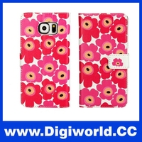 Sunflower Wallet Case For Samsung Galaxy S6 G9200 Cellphone With Stand Card Holder Leather Cover