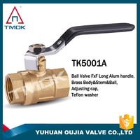 TMOK 1'' Brass Ball Vave with lever iron handle -WOG600 BSPP Feamel