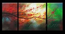 Handmade framed picture art panting for decor