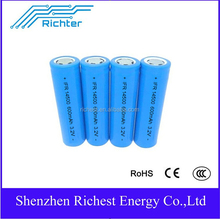 Remote-control 14500 lifepo4 battery 400mAh 3.2V original Richter brand IFR14500 400mAh 3.2V high quality rechargeable battery