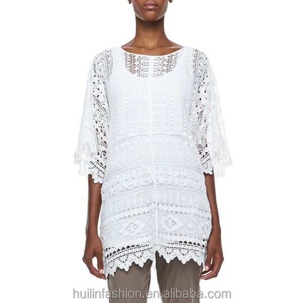 Plain Tunics Wholesale Crochet Plain Tunic Half