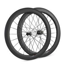 U shape high profile cycling carbon road wheel 60mm full carbon fiber clincher rim with 20 24holes pillar 1420 spokes