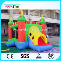 CILE Outdoor Red Flag Kids Sporting Inflatable Slide with Cover