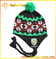 New brand latest designer cute style warm winter beanie hats with top ball