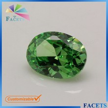 Wuzhou Gemstone Market Sale Loose Zircon Stones Light Green Oval Shaped Emerald Stone Prices Cheap