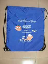Promotional cotton drawstring backpack