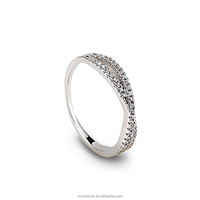 OUXI 925 sterling silver infinity engagement ring price Y70036