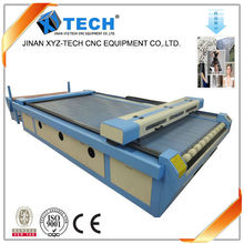 China Sale Professional Auto feeding Textile Fabric Cloth CO2 Laser Cutting Engraving Machine XJ1325
