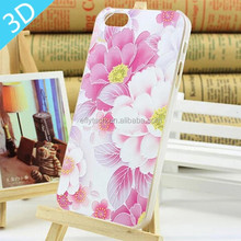 Custom high quality 3D Embossed Mobile Phone Case For iPhone 5, 3D Printing Case For iPhone 5