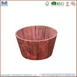 2015 hot sale vintage fashionable wooden bucket, wooden bucket for flowers factory direct sale