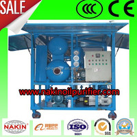 Double-stage vacuum transformer oil purifier/ waste transformer oil recycling