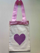 Bag Factory direct 2015 best selling handmade High Quality 6oz polyester /cotton tote bag printing for cotton candy