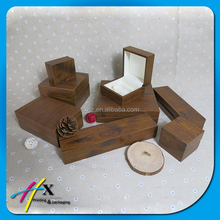 custom own brand wooden jewelry packaging box for ring display/bracelet display/necklace display