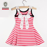 Baby dress 2012 pure color new cotton flower baby girl dresses