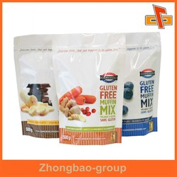 gravure printing custom stand up sealable plastic food pouch with perforation for frozen food, snack