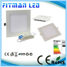 3W 4W 6W 9W 12W 15W 18W 20W AC85~265V Cold white/warm white square led downlight panel