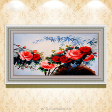 hot selling flower picture for home decor with rose picture modern oil paintingCT-62