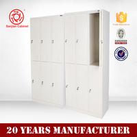 Factory Wholesale Price 6 door steel metal bathroom corner cabinet white