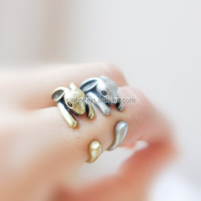 bunny adjustable ring rabbit burnished ring animal wrap ring