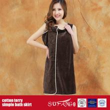 100%Cotton Terry Simple Bath Skirt