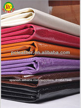 tejido impreso de la pu de cuero de cocodrilo de cuero sintético para el bolso que hace