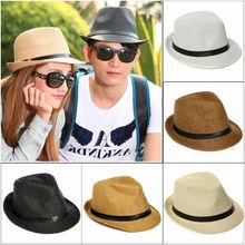 los hombres de moda las tapas de jazz la mujer fedora sombrero sombreros de verano para mujeres