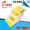 2015 automatic with CE certificate bird cages models for high hatching rate for 96 eggs