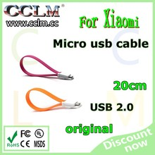 Portable usb cable for xiaomi charger cable for mobile phone and table 22cm date cable
