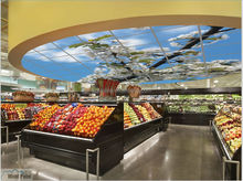 2015 supermarket and store sky ceiling light open my sky anytime anywhere