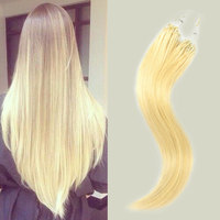 2016 The Best Quality Loop Hair, 10-30'' Unprovessed Cheap Straight Hair Weave Russian Virgin Hair Extensions