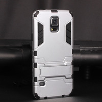 For Galaxy S5 Case, [Heavy Duty] with Kickstand [Dual Layer] Hard Case Cover Protective Bumper Skin for Samsung Galaxy S5