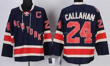 Callahan #24 New York Rangers Dark Blue Ice Hockey Jersey