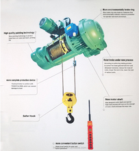CD1 MD1 Model Portable Wireless Remote Control Electric Wire Rope Hoist