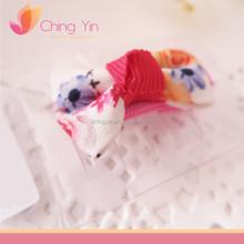 Cute Girls Fashion Hair Accessories Floral Print Bow Hair Alligator Clip