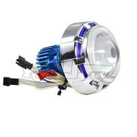 BJ-HL-003 New arrival aluminum 18W LED bi-xenon projector motorcycle headlight lens