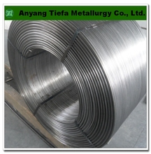 Mineral resources FeSi alloy powder cored wire , ferro silicon cored wire
