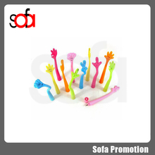 2015 best gift plastic cute silicone finger shape ball pen