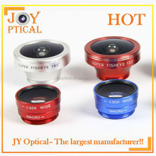 Premium quality Cell phone camera lens 0.65X Wide angle / fisheye 185 / macro lens compatible with all smart phone collection