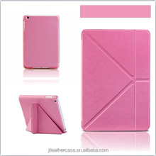 Lovely PU Leather stand case for ipad mini folio leather case foldable pu case