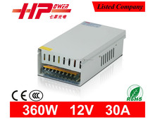 Power supply manufacturer constant voltage 12v 30a power supply single output 360w 30a 12v rainproof power supply smps 12v