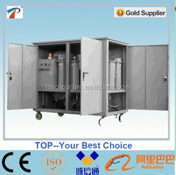 Used old transformer oil purification system for energized or de-energized transformers, improve oil dielectric strength to 75kV
