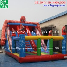 inflatable spiderman slide for sale,amusement inflatable slide for kids