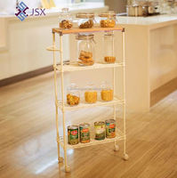 Mini metal tea trolley , kitchen hand trolley