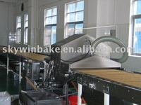 Oil spraying machine for biscuit line