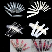 Super Long Salon Nail Art tips/sharp&square Flase nail tips natural transparent color