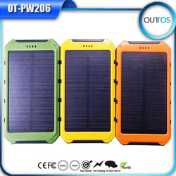 Travel charger portable solar power bank 8000mah for iphone samsung