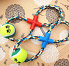 Smiling Face Dog Cotton Rope Tennis Sports Dog Toy Ball Pet Toys